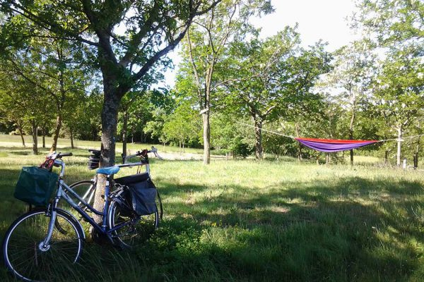 Rural camping for biking in the Cevennes