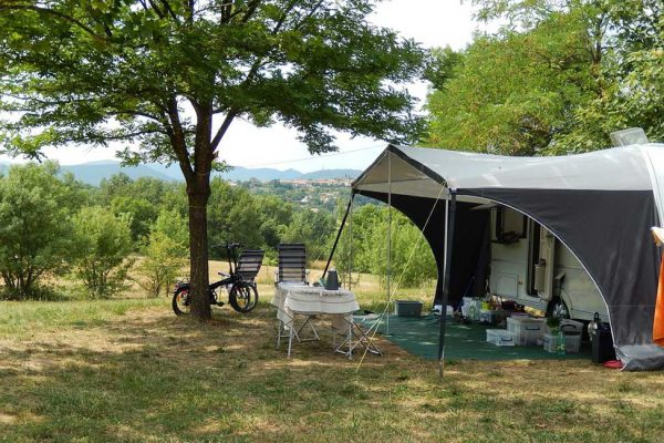 Small camping with view on the Cevennes