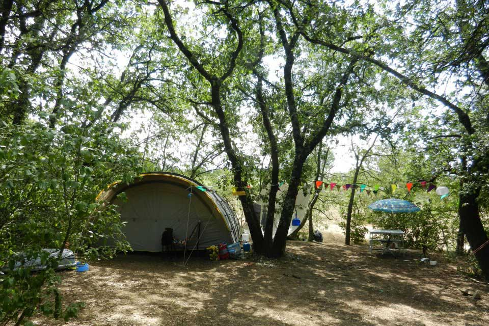 Small shady camping in the Gard Cevennes