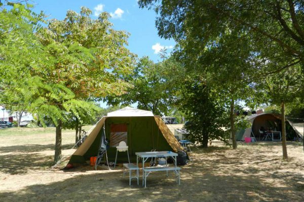 Pitch for tent in rural campsite Cevennes