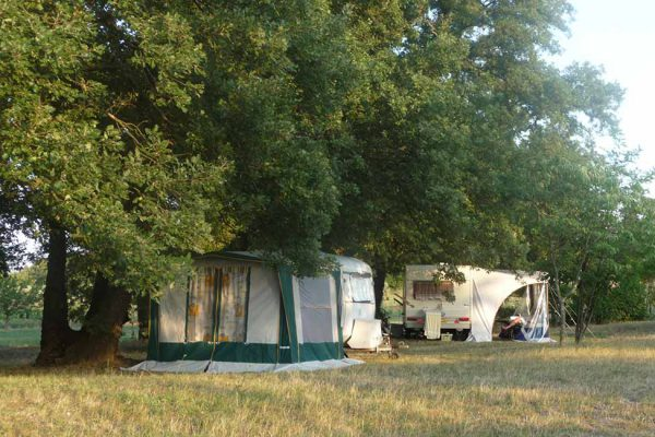 Farm campsite in south of France