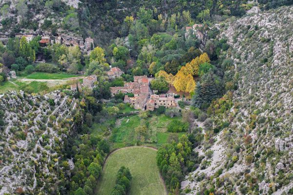 Village in touristic Cevennes France