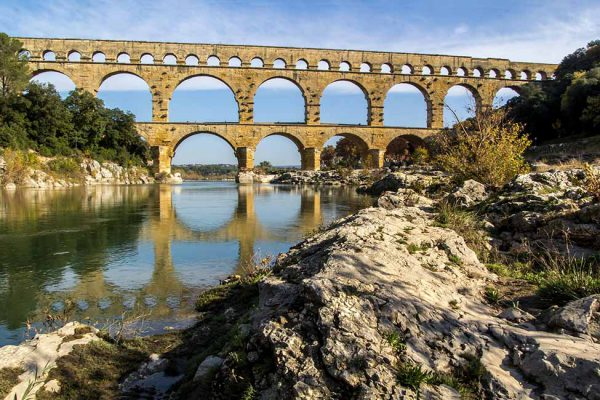 Tourism at Pont du Gard France