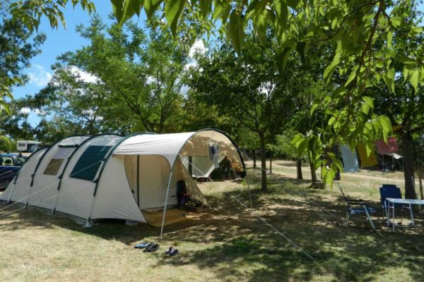 Large places at small rural campsite Mas Cauvy in Cevennes