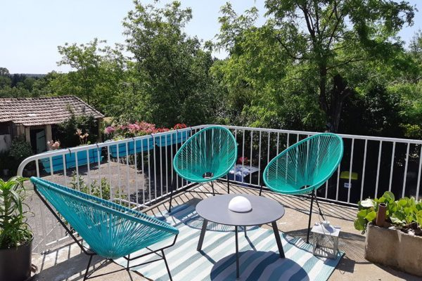 chambre hote cevennes terrasse 600x400 - Bed & Breakfast in Cevennes | South of France